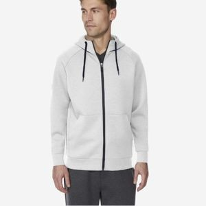 32 Degrees Men's White Fleece Tech Hoodie